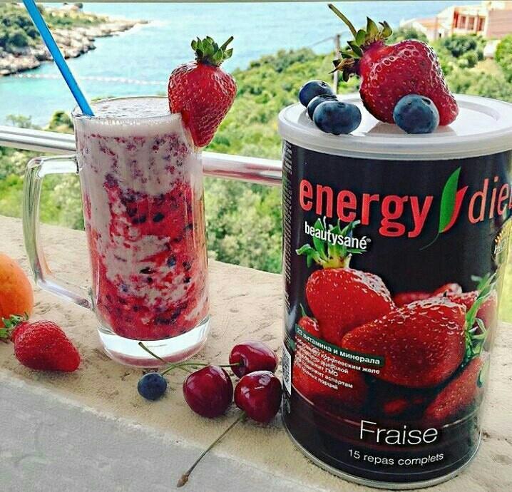 Коктейль «Клубника» Energy Diet