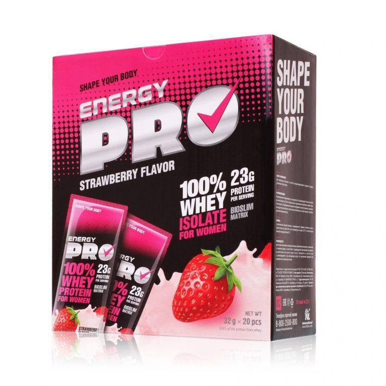 Сывороточный протеин для женщин Energy Pro Клубника