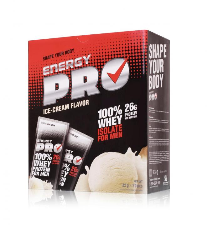 Сывороточный протеин для мужчин Energy Pro Пломбир