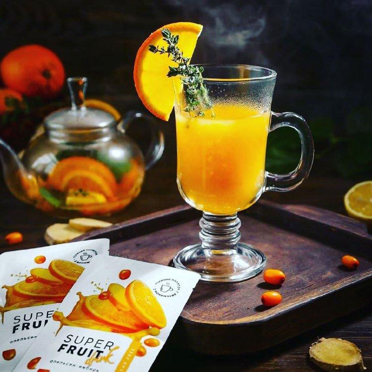 Super Fruit Drink «Апельсин-имбирь» Горячий напиток Energy Life