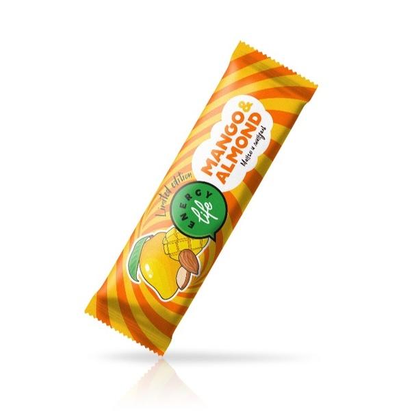 Фруктовый батончик с манго и миндалем Полезное удовольствие  Energy Life