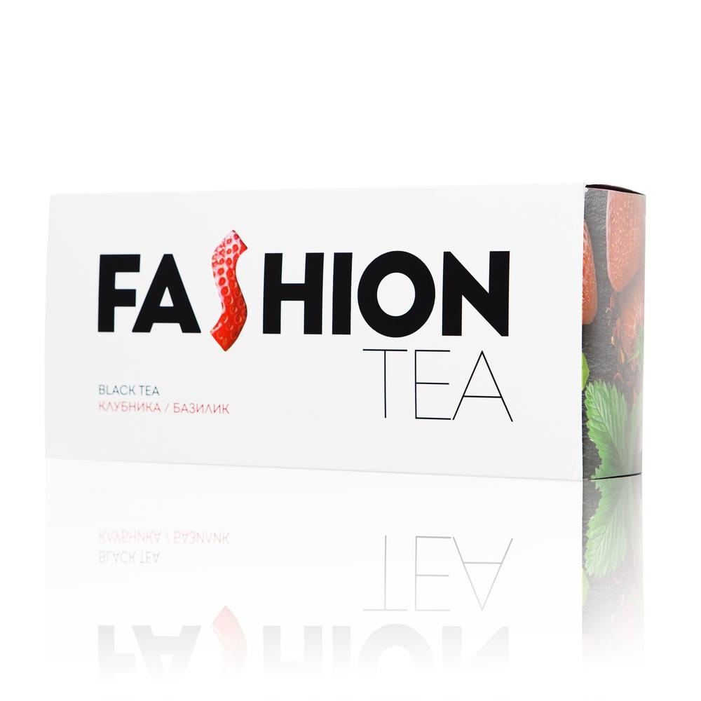 Черный чай Enerwood FASHION С клубникой и базиликом